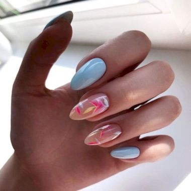 Cute Summer Nail Almond Design And Colours 02