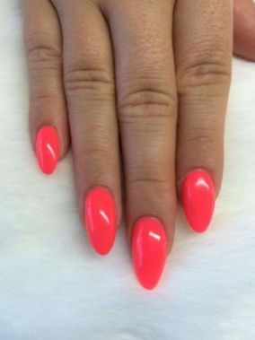 Cute Summer Nail Almond Design And Colours 35