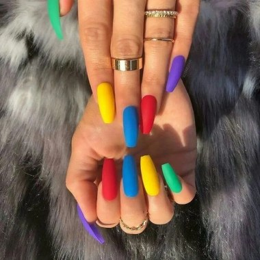 Cute Summer Nail Almond Design And Colours 50
