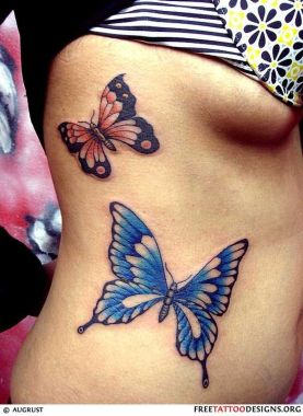 Amazing Butterfly Tattoo Designs And Placement Ideas For Women 03