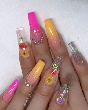 Prettiest Acrylic Nail Art Designs For Summer 01