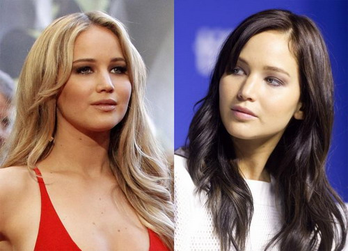 Jennifer Lawrence blonde brunette Easy Tips to Change Hair from Blonde to Brunette