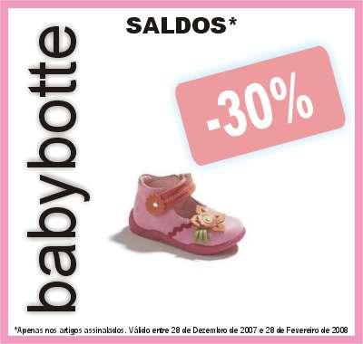 Promoção no calçado Babybotte
