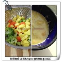 Brokoli ve havuçlu patates püresi