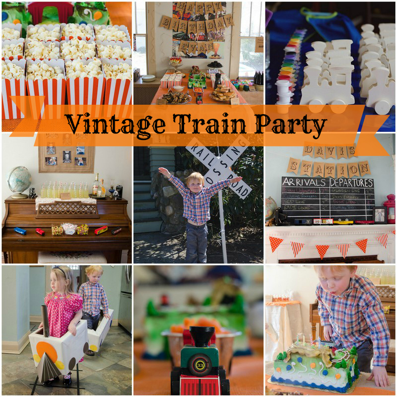 posts tagged vintage train birthday party