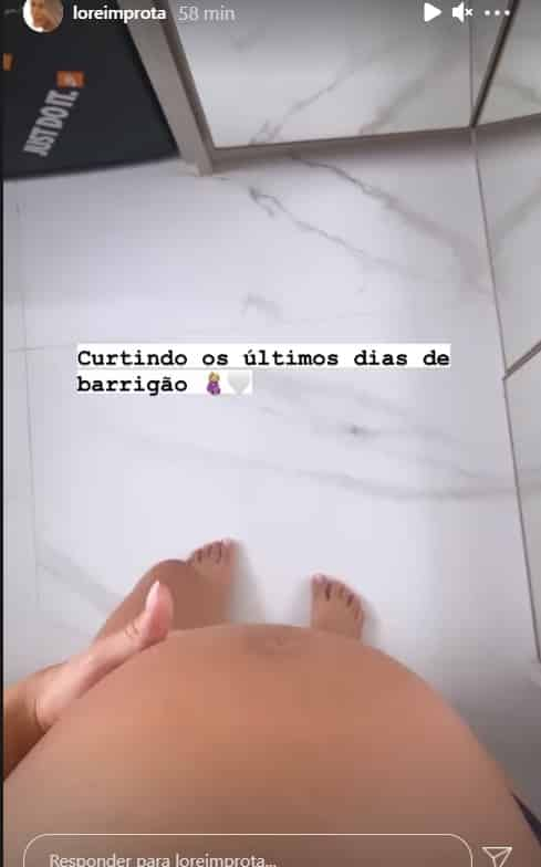 Lorena Improta about to give birth to her daughter with Léo Santana