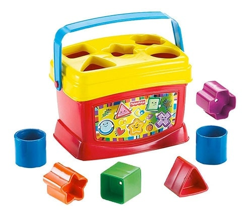 Fisher Price - Bloques Infantiles con cubo transportable