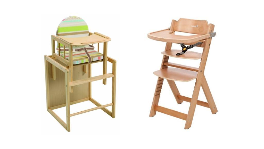 2 tronas de bebé baratas, de madera y convertibles