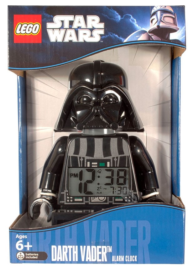 Despertador digital de Darth Vader en Lego