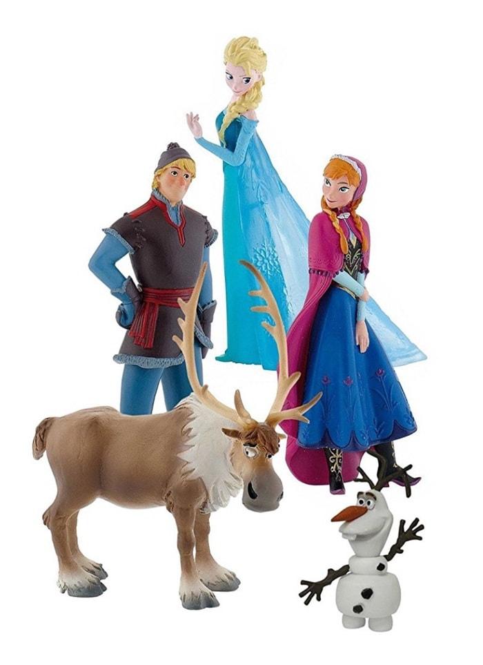 Bullyland 12220 - Figuras de juguete Frozen, Pack de 5 figurillas