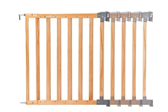 Safety 1st 24700104 Simply Swing XL - Barrera de seguridad de madera natural, extra ancha