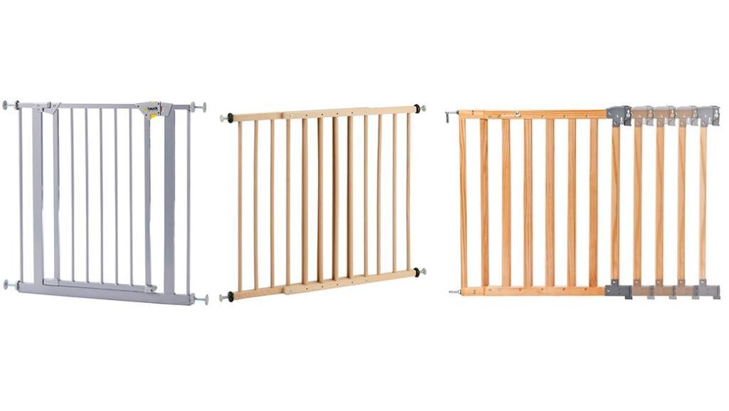 Barreras de seguridad para niños: Hauck 597101 vs Reer KH110 vs Safety 1st 24700104 Simply Swing XL