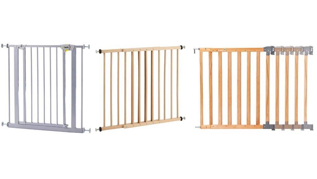 Barreras de seguridad para niños: Hauck 597101 vs Reer KH110 vs Safety 1st 24700104 Simply Swing XL