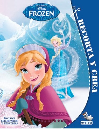 Libro Frozen recortables