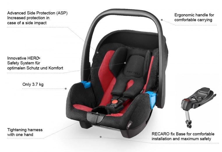 Recaro privia asiento de coche para beb s grupo 0 for Silla coche bebe grupo 0