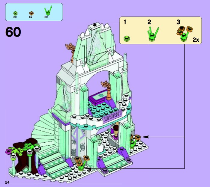 LEGO Princesas Disney - El brillante castillo de hielo de Elsa instrucciones