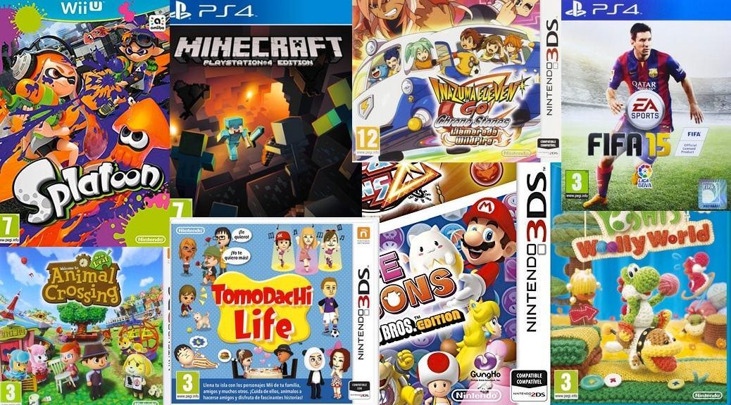 Los 10 videojuegos infantiles más vendidos