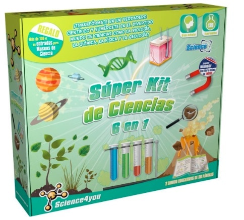 Science4you - Súper kit de ciencias 6 en 1 - juguete científico y educativo