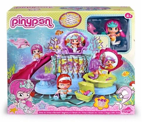 Pinypon - Reino sirenas, muñeco con 20 accesorios