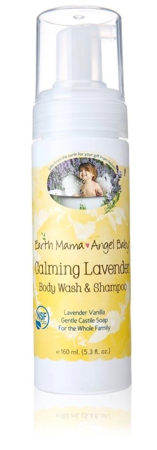 Earth Mama Angel Baby - Champú y gel de baño infantil con efecto calmante