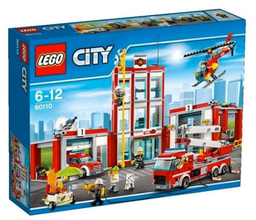 LEGO City - Set Estación de bomberos, multicolor (60110)