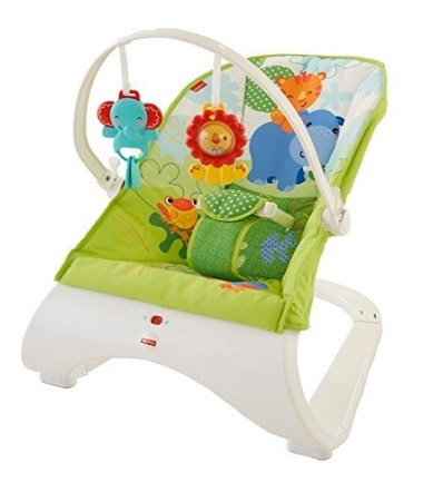 Fisher Baby Gear - Hamaca confort y diversión, color verde (Fisher Price CJJ79) en oferta