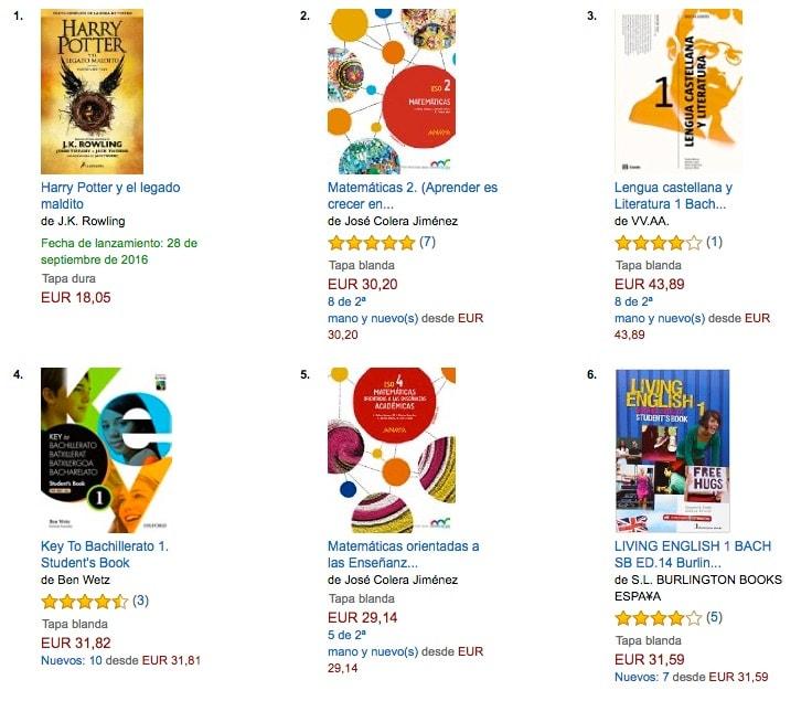 ¿Por qué los libros de texto se encuentran entre los más vendidos en Amazon España?