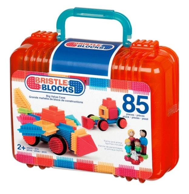 Bristle Blocks Big Value - Maletín de juego de construcción con muñecos y animales