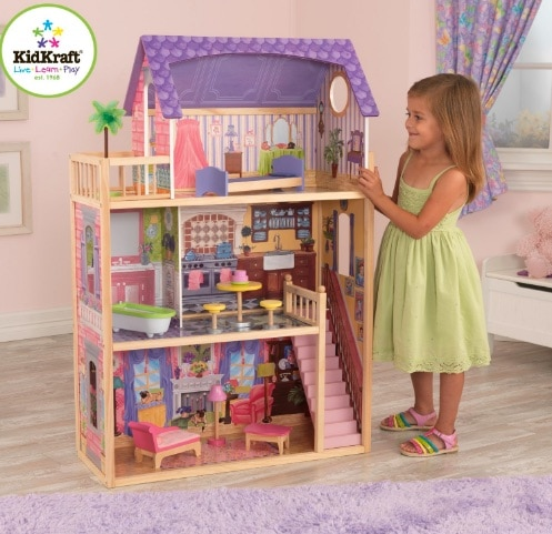 Ahorra casi 70 euros en el juguete KidKraft - Casa de muñecas Kayla en Amazon España: solo cuesta 90 euros