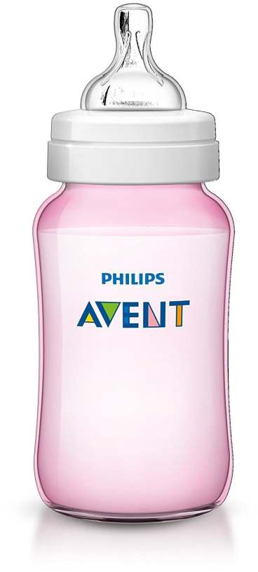 Philips Avent SCF567/17 - Biberón Classic+ de 330 ml, tetina de flujo variable, anticólico