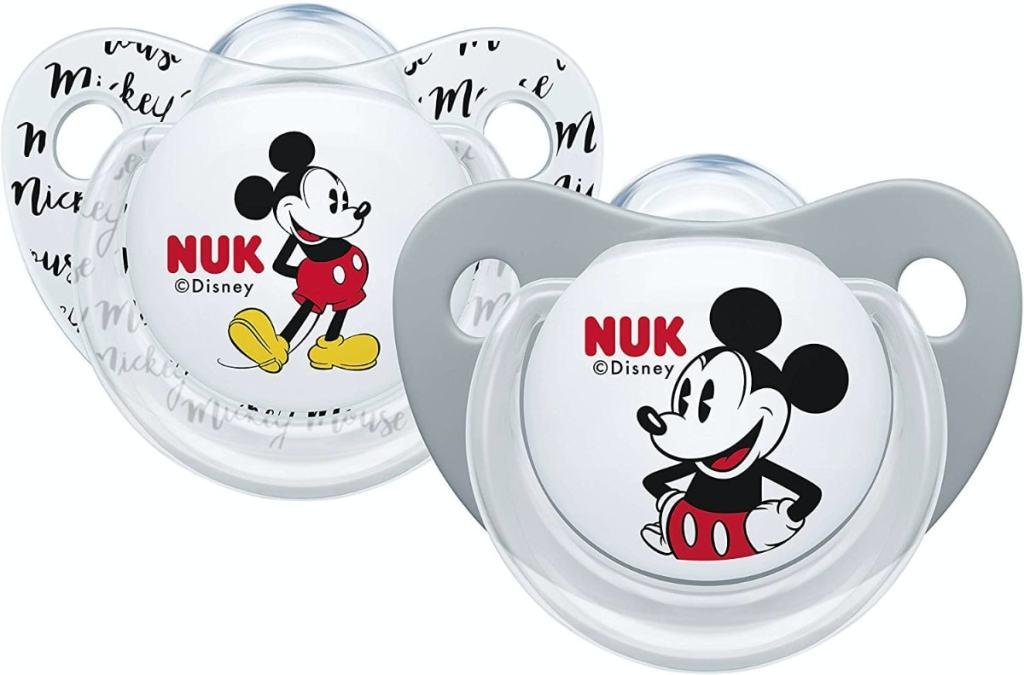Nuk Mickey & Minnie - Chupetes fisiológicos de silicona de 0 - 6 meses