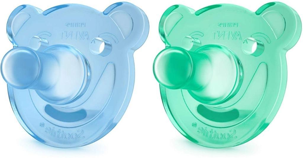 Philips Avent Soothie - Pack de 2 Chupetes calmantes de silicona médica, sin BPA, de 0 a 3 meses