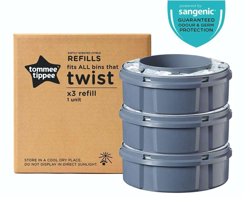 Tommee Tippee Sangenic Recambios Sistema avanzado para desechar pañales Twist & Click, paquete de 3