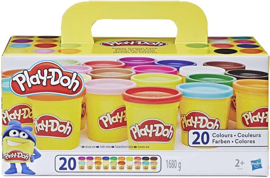 Play-Doh, color surtido, Pack de 20 Botes de plastilina