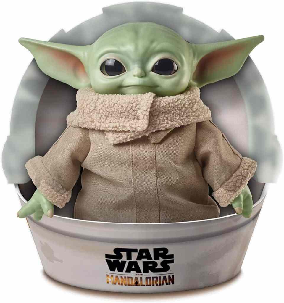 Star Wars Baby Yoda - El niño de la serie The Mandalorian: figura peluche de 28 cm