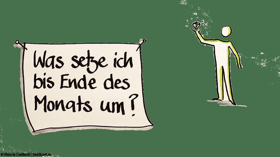 Dranbleiben Sketchnotes © Viktoria Cvetković | bebildert.eu