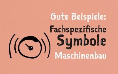 Visuelle Notizen: Fachspezifische Symbole Maschinenbau