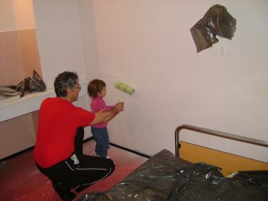 Akcija krečenja porodilišta u Boru