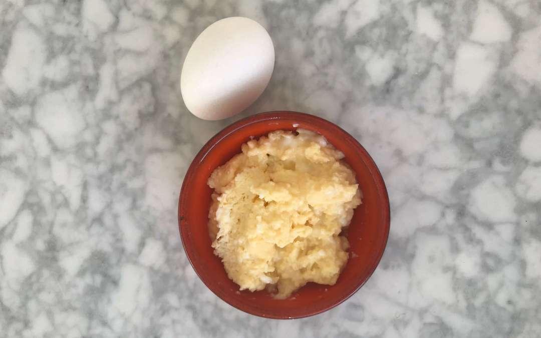 Äggröra är bra barnmat för din bebis