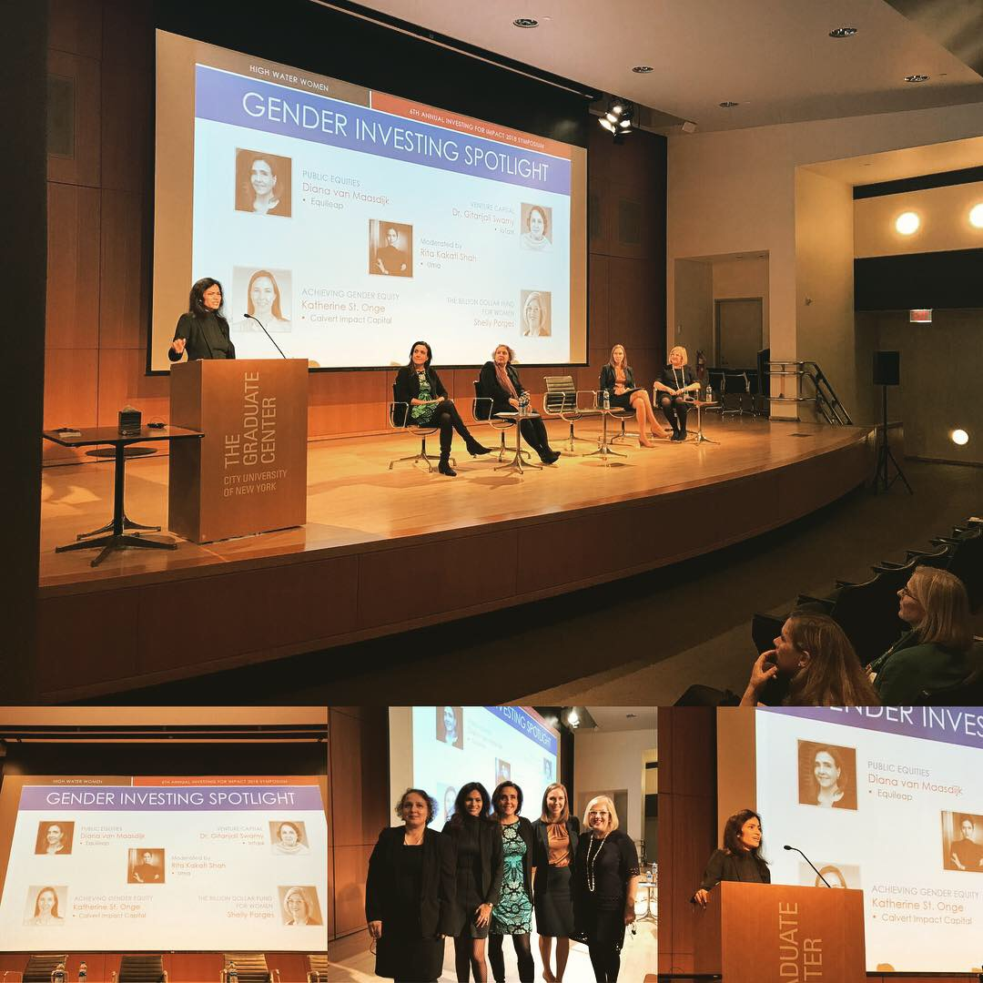 October 17, 2018: New York, USA | High Water Women Symposium | Spotlight Discussion on Gender Investing