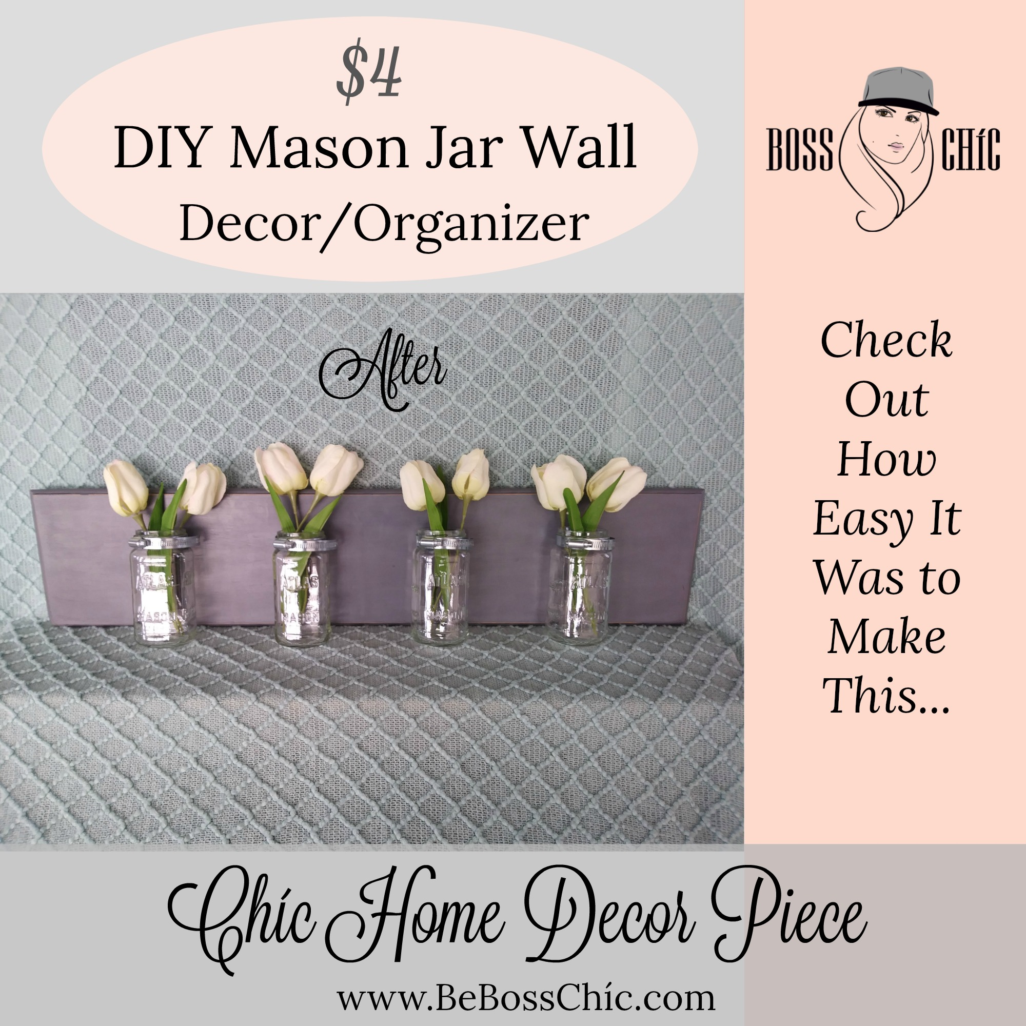 Recycled Jars And Dresser Drawer 4 Diy Mason Jar Wall Decor