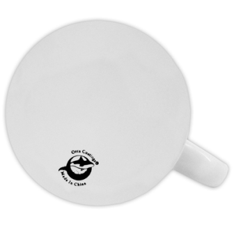 Taza blanca de cerámica personalizable