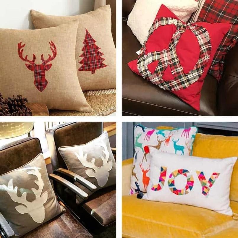 diy christmas pillow covers easy