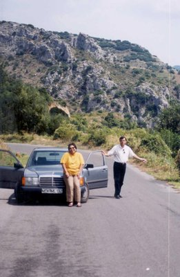 In Greece with my boss when his Benz conked out at the middle of nowhere (Karatoula)