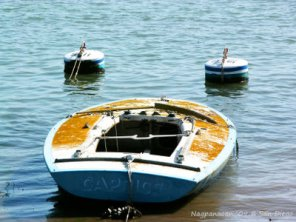 A dinghy in Newport Beach