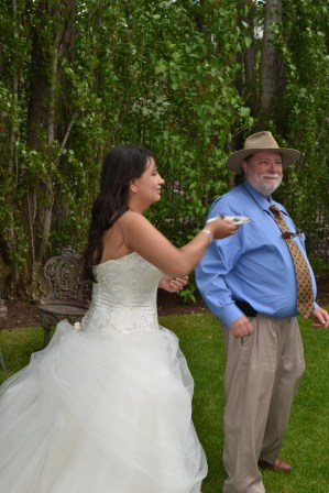The bride and her Dad