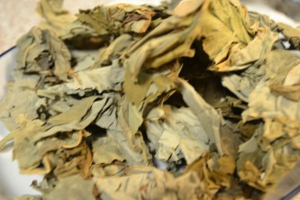 Dried taro leaves