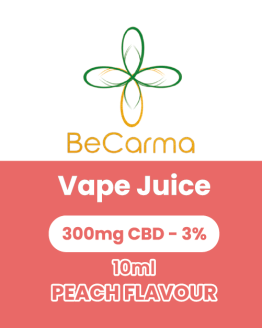 peach vape juice label