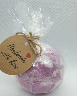purple swirl bath bomb