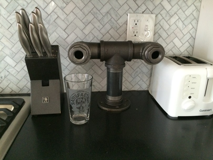 black iron pipe diy draft tower with parts list